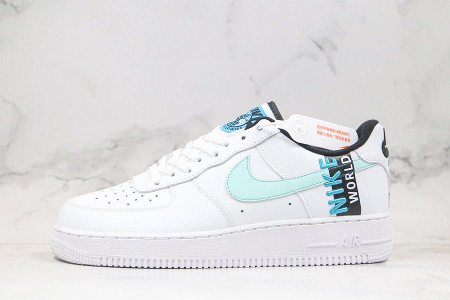 Nike Air Force 1 Low Worldwide White Blue Fury-Black-Glacier Blue