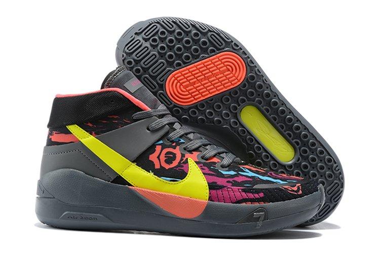 Nike KD 13 Dark Grey Yellow Basketball Sneakers To Buy