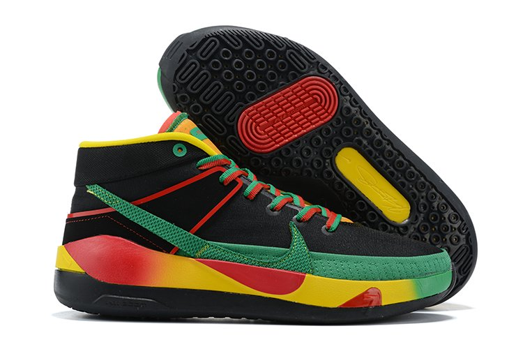 Latest Nike KD 13 Black Green Red Yellow Basketball Shoes Sale