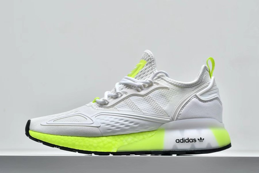 Mens adidas ZX 2K Boost White Solar Yellow FW0480 For Sale