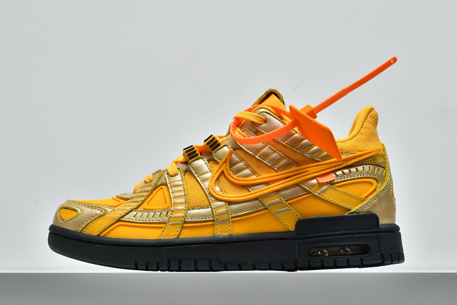 Nike Air Rubber Dunk Off-White University Gold To Buy