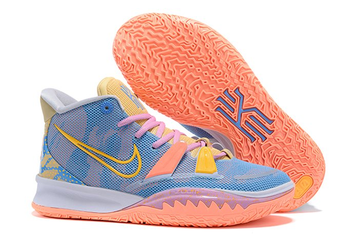 Nike Kyrie 7 Expressions Blue Orange Pink Yellow DC0589-003 Sale