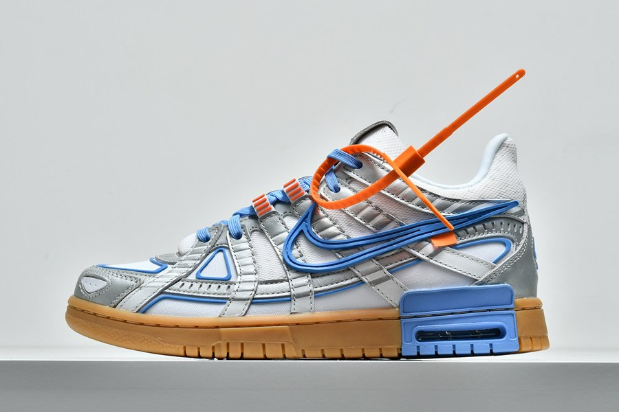 OFF-WHITE x Nike Air Rubber Dunk Silver University Blue