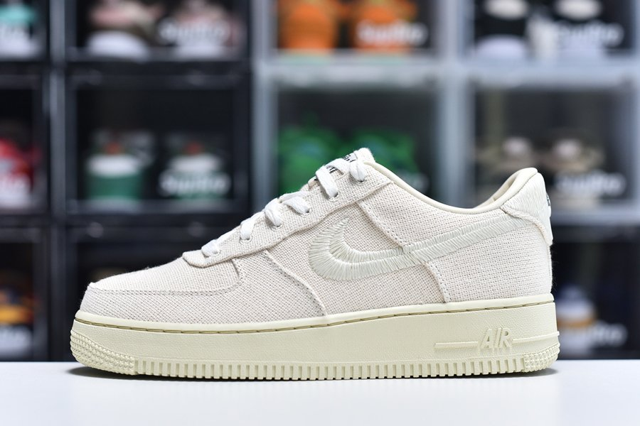 Stussy x Nike Air Force 1 Low Fossil Stone CZ9084-200 To Buy