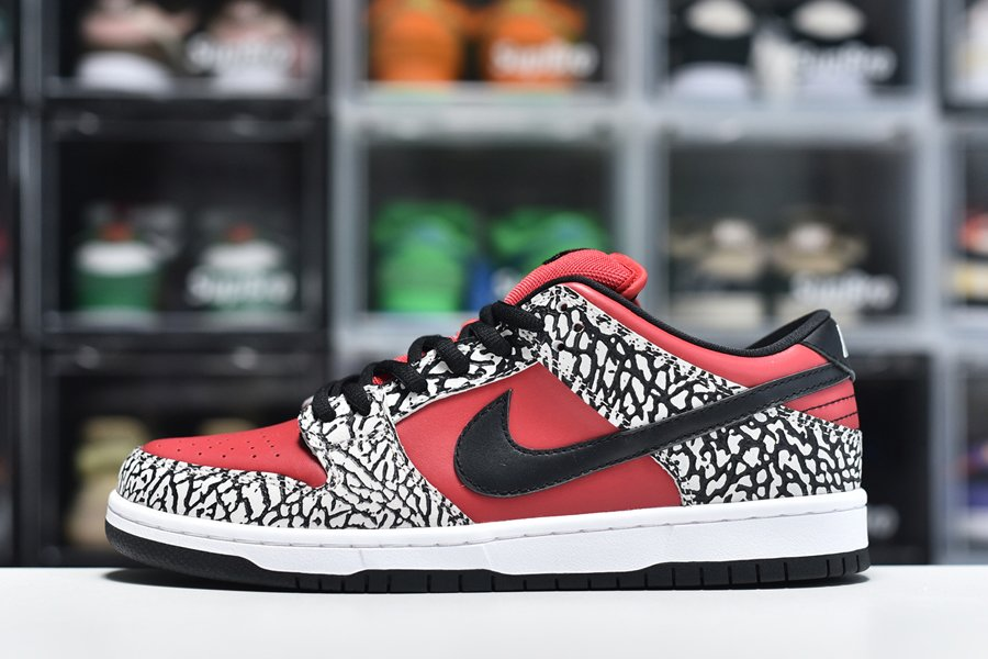 Supreme x Nike SB Dunk Low Red Cement