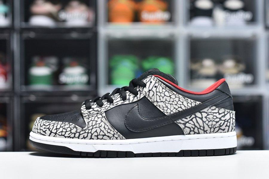 Supreme x Nike Dunk Low Pro SB Black Cement To Buy