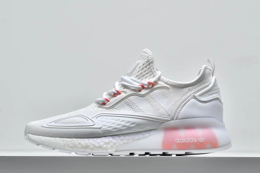 Womens adidas ZX 2K Boost White Pink FV8983 On Sale