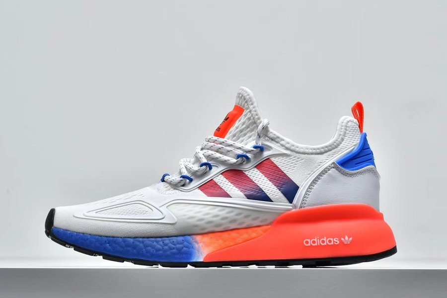 adidas Originals ZX 2K BOOST White Solar Red Blue FV9996 To Buy