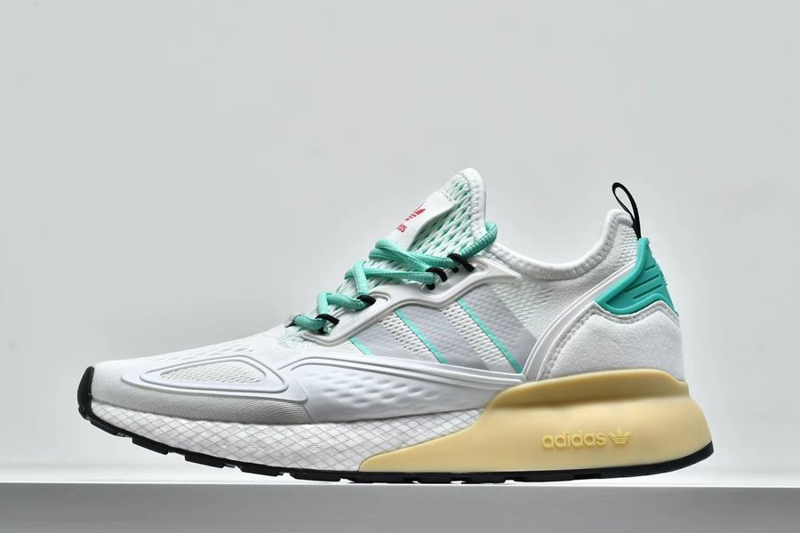 adidas ZX 2K Boost Crystal White Grey One Hi-Res Green FX4172 Sale