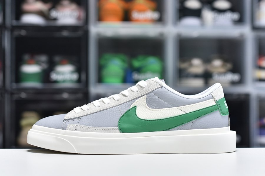 sacai x Nike Blazer Lows Medium Grey Green For Sale
