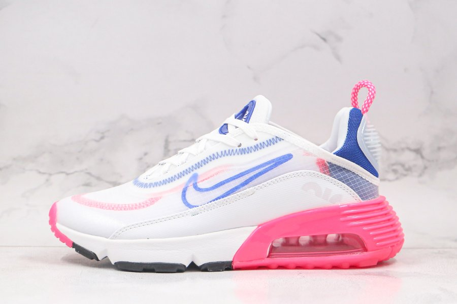 Buy Now Nike W Air Max 2090 White Pink Blast-Pure Platinum-Concord