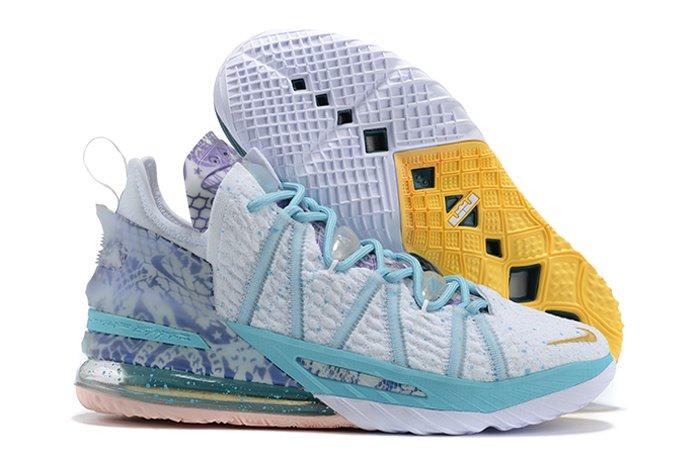 Nike LeBron 18 Reflections Flip White Bleached Aqua To Buy