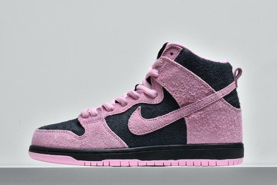 Nike SB Dunk High Invert Celtics Black Pink Rise-Lucky Green