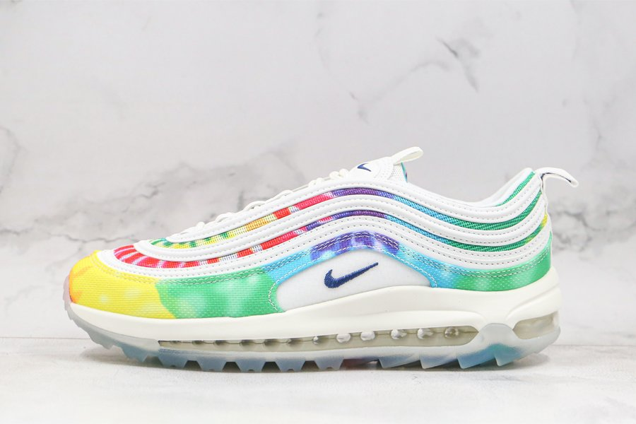 Nike Air Max 97 G Tie Dye Colorful Design CK1219-100 On Sale