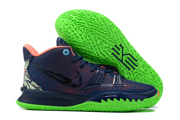 Nike Kyrie 7 Navy Blue Green Basketball Shoes For Sale