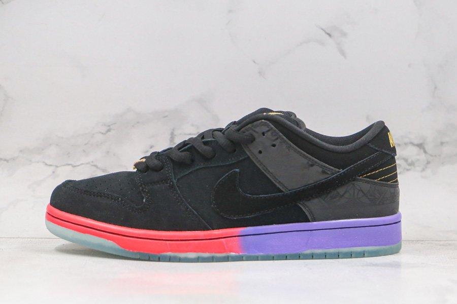 Nike SB Dunk Low BHM Black Purple Red 504750-001 To Buy