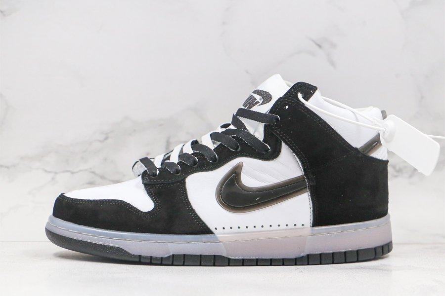 Slam Jam x Nike Dunk High White Black DA1639-101 For Sale