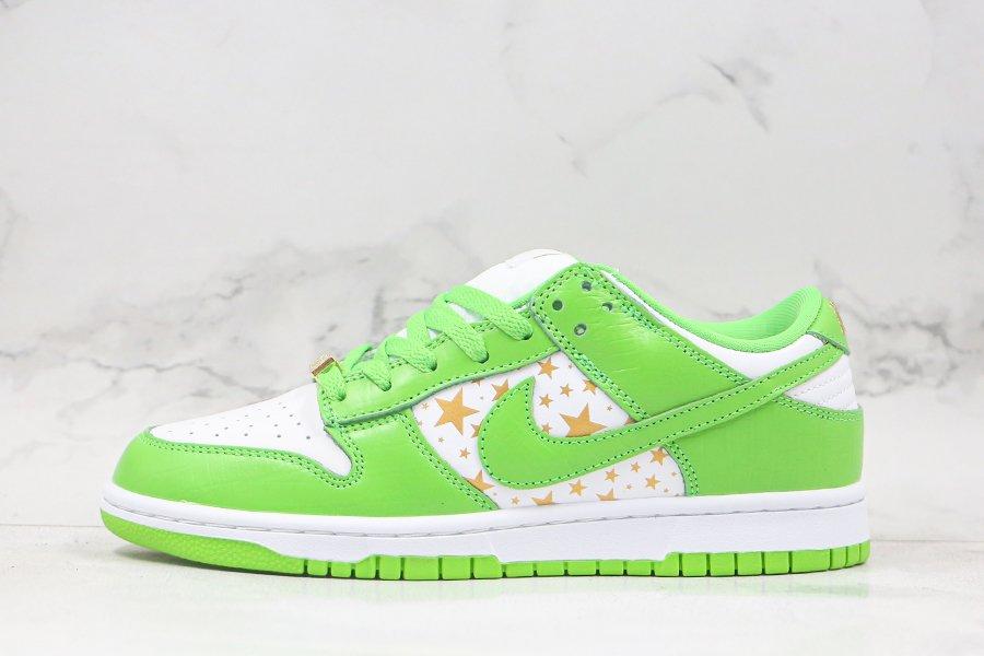Supreme x Nike SB Dunk Low Stars Mean Green DH3228-101 On Sale