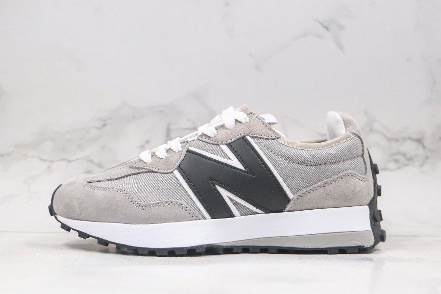 Buy Online New Balance 327 Beige Grey White MS327LVB Denim Uppers