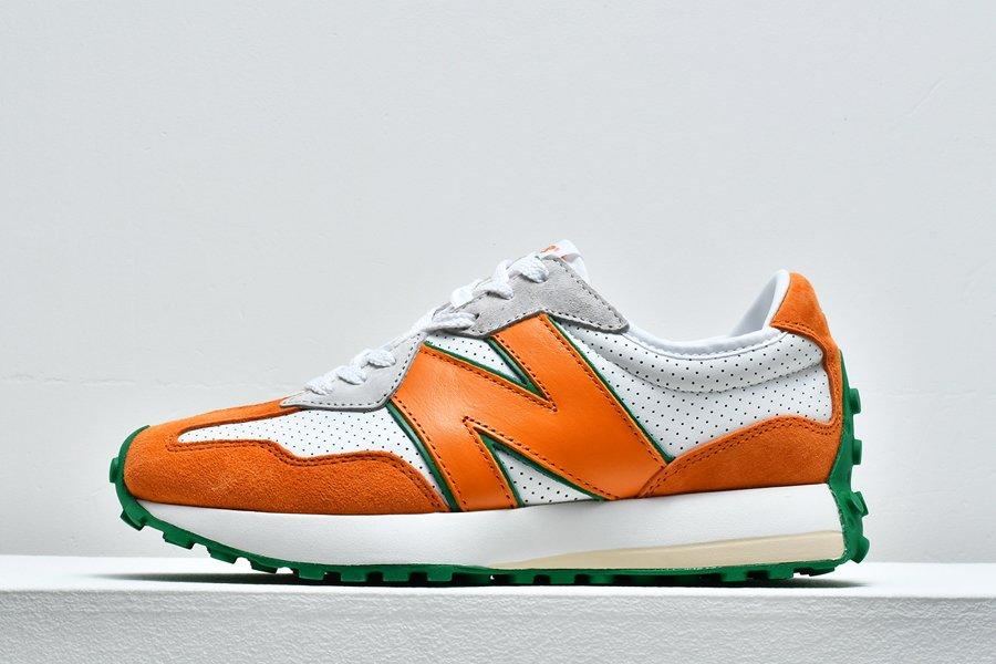 New Balanace x Casablanca 327 White Orange Green On Sale