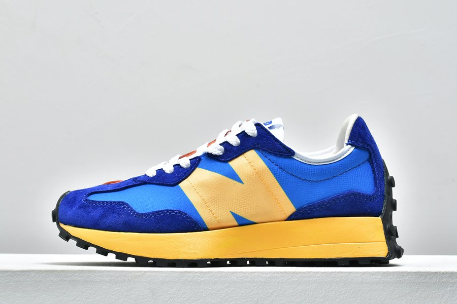 New Balance 327 Blue Yellow MS327CLB For Sale