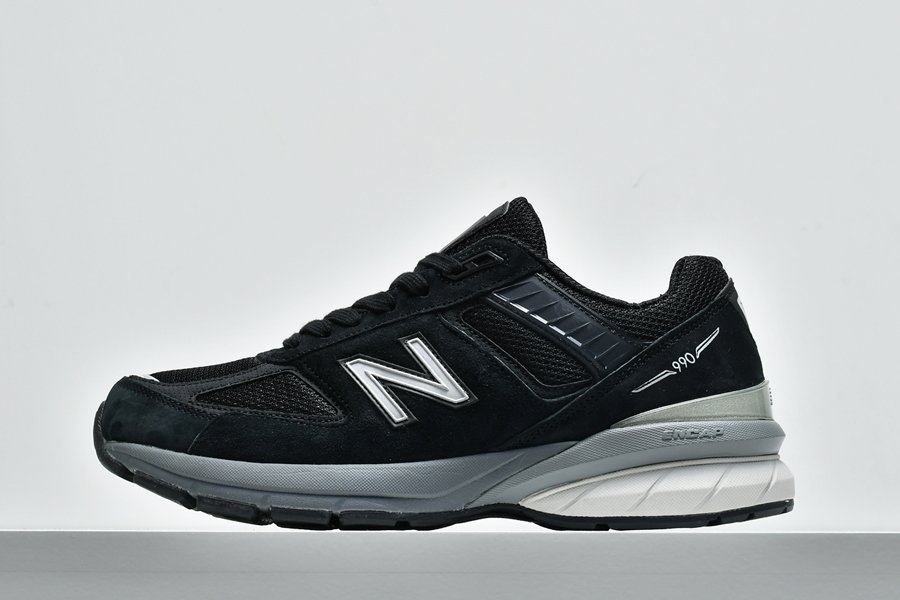Buy New Balance 990v5 Made In USA M990BK5 In Black and Silver