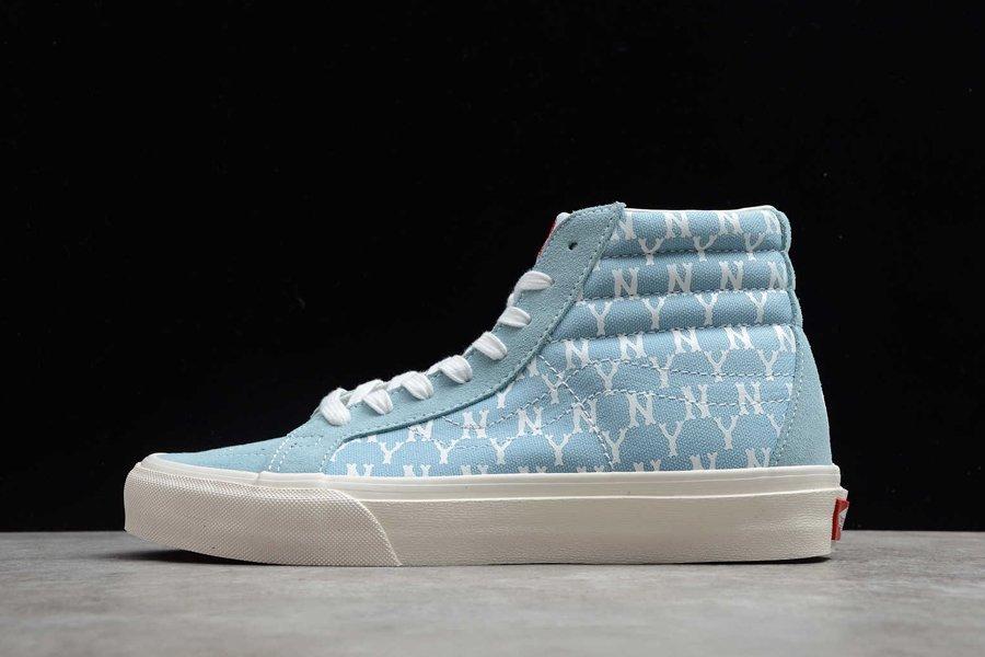 New York Yankees x Vans Sk8-Hi Blue Shoes For Sale