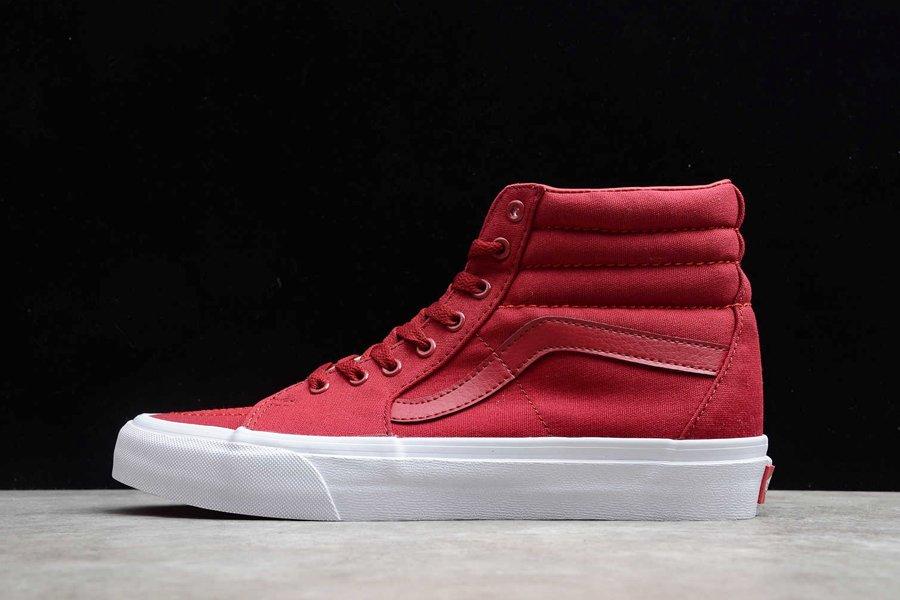 Vans Sk8-Hi Red High Top Skate Shoe On Sale