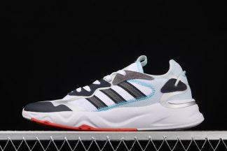 Adidas Future Flow Cloud White Grey Five-Semi Solar Red FW7194 Sale
