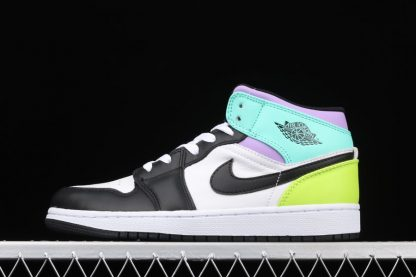 Air Jordan 1 Mid GS With Pastel Multi-Colored Uppers