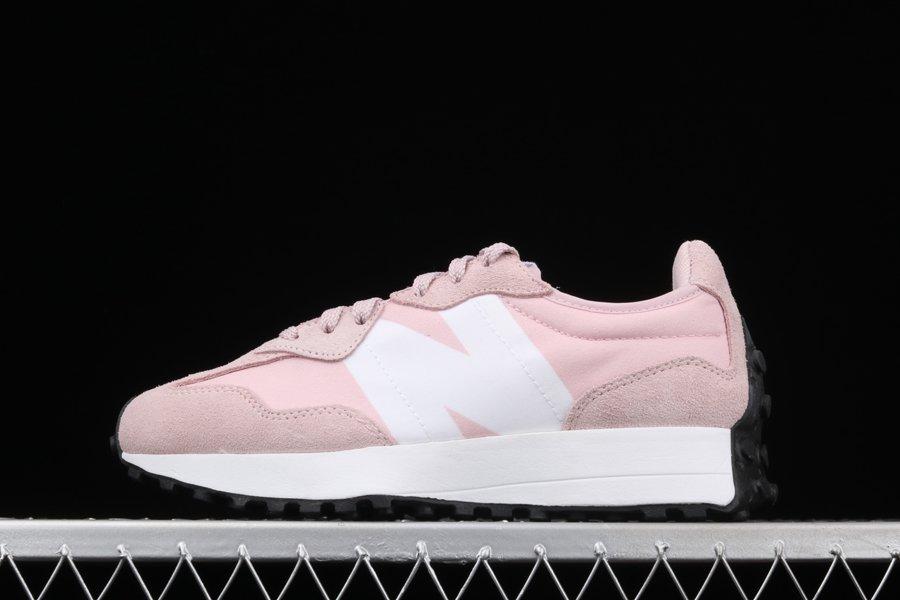 Buy Ladies New Balance 327 Pink White