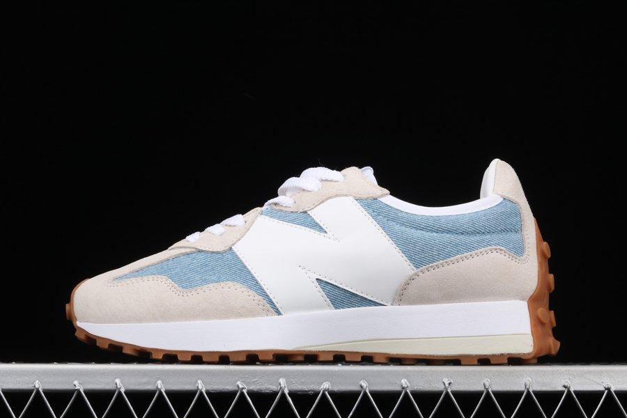 Buy New Balance 327 Washed Denim White Blue