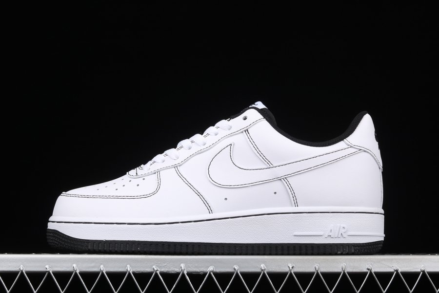 Nike Air Force 1 07 Contrast Stitch White Black CV1724-104 To Buy