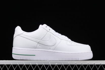 Nike Air Force 1 Low Rose White University Red-Pine Green Medial