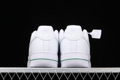 Nike Air Force 1 Low Rose White University Red-Pine Green Heel