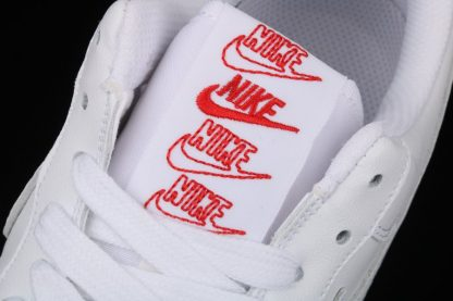 Nike Air Force 1 Low Rose White University Red-Pine Green Tongue