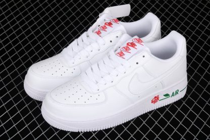 Nike Air Force 1 Low Rose White University Red-Pine Green Top