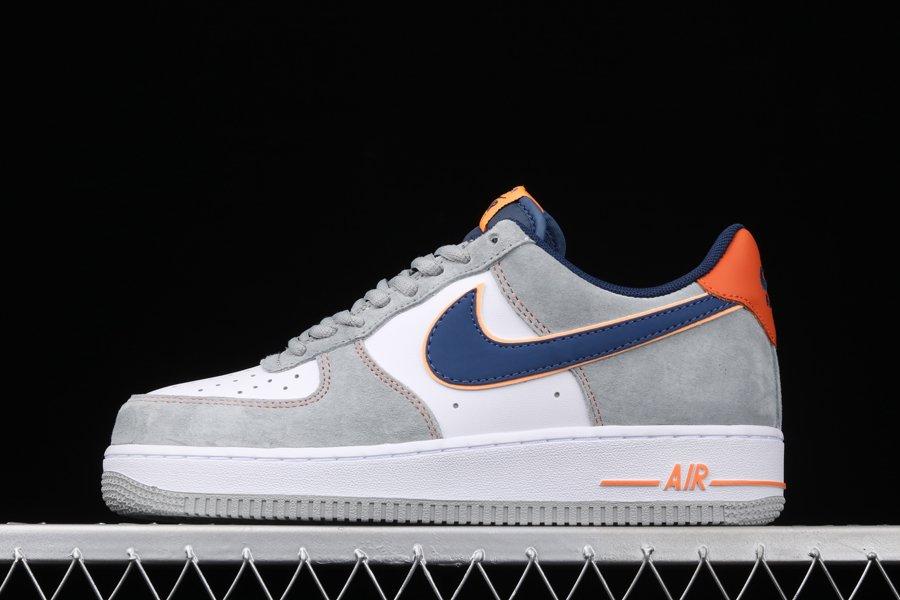 Nike Air Force 1 Low White Grey Navy Orange To Buy