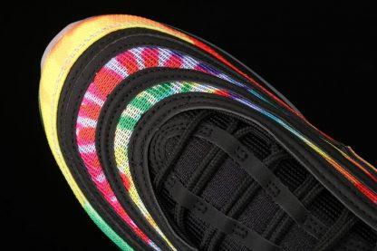 Nike Air Max 97 Golf Black Tie-Dye Multi-color CK1219-001 Toe