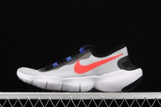 Nike Free RN 5.0 2020 Pure Platinum Racer Blue-Bright Crimson