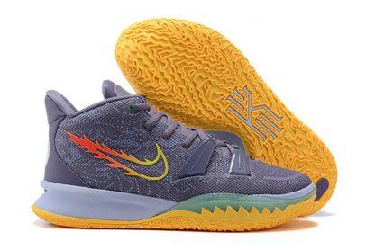 Nike Kyrie 7 Gray Yellow Basketball Shoes