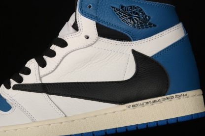 Travis Scott x Fragment x Air Jordan 1 High OG Blue Detail
