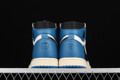 Travis Scott x Fragment x Air Jordan 1 High OG Blue Heel