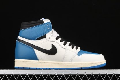 Travis Scott x Fragment x Air Jordan 1 High OG Blue Medial