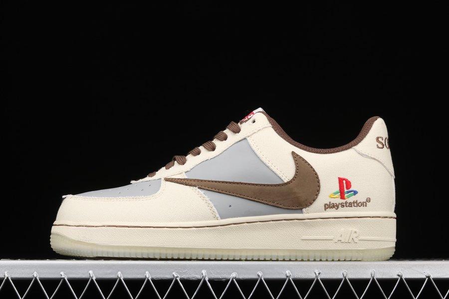 Travis Scott x PlayStation x Nike Air Force 1 Low Charcoal Grey