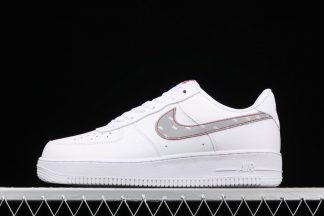 White Nike Air Force 1 With 3M Reflective Logo CT2296-100 To Buy