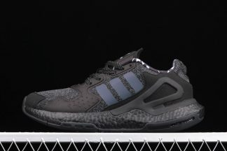 adidas Day Jogger Triple Black All-Reflective Runner