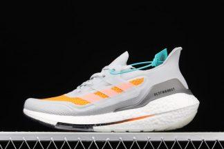 adidas Ultra Boost 21 Dash Grey Screaming Orange FY0375 To Buy