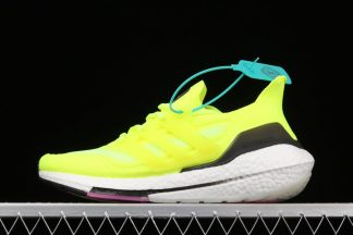 adidas Ultra Boost 21 Solar Yellow Pink FY0373 On Sale