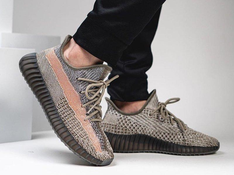 adidas Yeezy Boost 350 V2 Ash Stone On Feet